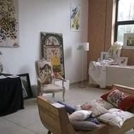 Exposition Anne Marie Lacroix: peinture sur tissus